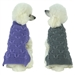 Butterfly Stitched Heavy Cable Knit Designer Dog Sweater - petlife-butterfly-sweater