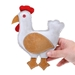 Calico Chicken - Country Tails Dog Toy  - doog-chicken-toy