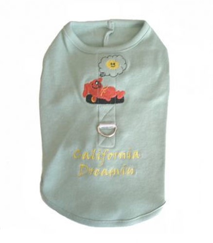 California Dreamin Dog Harness Tank - Dogdes-calif-tankM-MY7