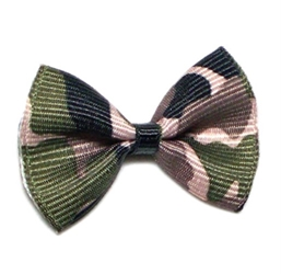 Camo Designer Dog Bows in Many Colors