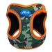 Camo/Orange Plush Step In Dog Harness Vest   - pl-orangecamo-vest