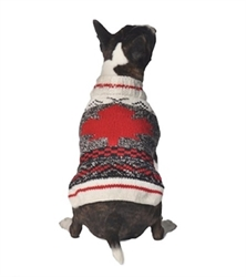 Camp Maple Leaf Dog Sweater