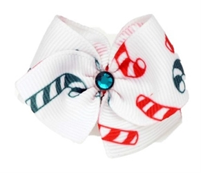 Candy Cane Christmas Hair Barrette