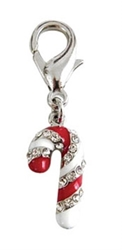 Candy Cane D-Ring Collar Charm