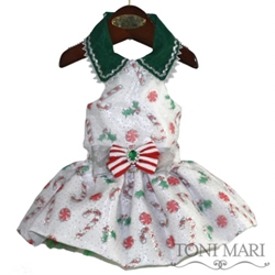 Candy Cane Toss Dog Holiday Dress