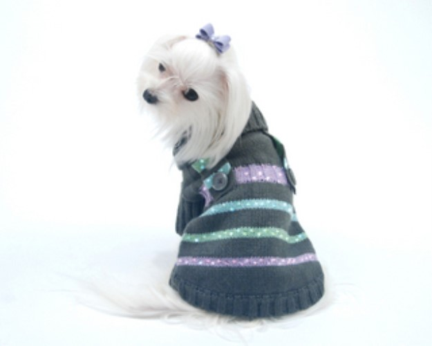 Candy Stripe Dog Sweater - on-candy