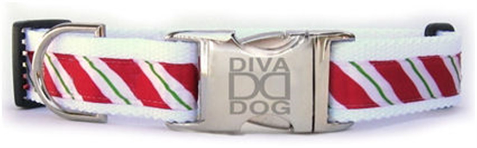 Candycane Christmas Dog Collar