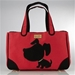 Canvas Doggy Style Rescue Me Tote in Red, Pink or White - jcla-doggystylecanvasbag
