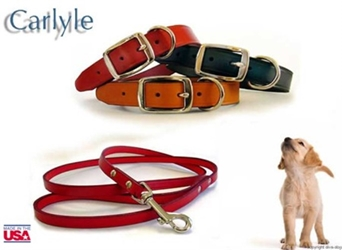 Carlyle Leather Dog Collar