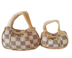 Checkered Chewy Vuiton Handbag Plush Toy   dog bowls,susan lanci, puppia,wooflink, luxury dog boutique,tonimari,pet clothes, dog clothes, puppy clothes, pet store, dog store, puppy boutique store, dog boutique, pet boutique, puppy boutique, Bloomingtails, dog, small dog clothes, large dog clothes, large dog costumes, small dog costumes, pet stuff, Halloween dog, puppy Halloween, pet Halloween, clothes, dog puppy Halloween, dog sale, pet sale, puppy sale, pet dog tank, pet tank, pet shirt, dog shirt, puppy shirt,puppy tank, I see spot, dog collars, dog leads, pet collar, pet lead,puppy collar, puppy lead, dog toys, pet toys, puppy toy, dog beds, pet beds, puppy bed,  beds,dog mat, pet mat, puppy mat, fab dog pet sweater, dog sweater, dog winter, pet winter,dog raincoat, pet raincoat