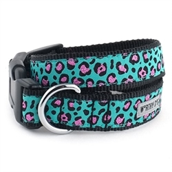 Cheetah Teal Dog Collar & Lead    pet clothes, dog clothes, puppy clothes, pet store, dog store, puppy boutique store, dog boutique, pet boutique, puppy boutique, Bloomingtails, dog, small dog clothes, large dog clothes, large dog costumes, small dog costumes, pet stuff, Halloween dog, puppy Halloween, pet Halloween, clothes, dog puppy Halloween, dog sale, pet sale, puppy sale, pet dog tank, pet tank, pet shirt, dog shirt, puppy shirt,puppy tank, I see spot, dog collars, dog leads, pet collar, pet lead,puppy collar, puppy lead, dog toys, pet toys, puppy toy, dog beds, pet beds, puppy bed,  beds,dog mat, pet mat, puppy mat, fab dog pet sweater, dog sweater, dog winter, pet winter,dog raincoat, pet raincoat, dog harness, puppy harness, pet harness, dog collar, dog lead, pet l