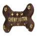 Chewy Vuiton Bone Dog Toy - ddd-chewybone