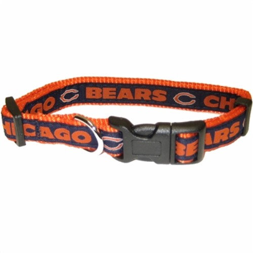 Chicago Bears Dog Collar & Leash  - dn-bears-collar