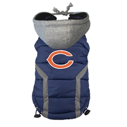 Chicago Bears Puffer Coat  Roxy & Lulu, wooflink, susan lanci, dog clothes, small dog clothes, urban pup, pooch outfitters, dogo, hip doggie, doggie design, small dog dress, pet clotes, dog boutique. pet boutique, bloomingtails dog boutique, dog raincoat, dog rain coat, pet raincoat, dog shampoo, pet shampoo, dog bathrobe, pet bathrobe, dog carrier, small dog carrier, doggie couture, pet couture, dog football, dog toys, pet toys, dog clothes sale, pet clothes sale, shop local, pet store, dog store, dog chews, pet chews, worthy dog, dog bandana, pet bandana, dog halloween, pet halloween, dog holiday, pet holiday, dog teepee, custom dog clothes, pet pjs, dog pjs, pet pajamas, dog pajamas,dog sweater, pet sweater, dog hat, fabdog, fab dog, dog puffer coat, dog winter ja