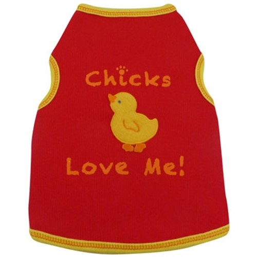 Chicks Love Me Dog Tee - iss-chicksS-U5L