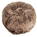 Chocolate Frosted Shag Round Dog Bed     - DW-frosted-bed