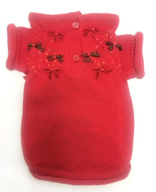 Christmas Bows Hand Smocked Sweater - on-christmasbows