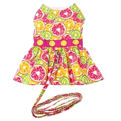 Citrus Slice Dog Dress with Matching Leash   wooflink, susan lanci, dog clothes, small dog clothes, urban pup, pooch outfitters, dogo, hip doggie, doggie design, small dog dress, pet clotes, dog boutique. pet boutique, bloomingtails dog boutique, dog raincoat, dog rain coat, pet raincoat, dog shampoo, pet shampoo, dog bathrobe, pet bathrobe, dog carrier, small dog carrier, doggie couture, pet couture, dog football, dog toys, pet toys, dog clothes sale, pet clothes sale, shop local, pet store, dog store, dog chews, pet chews, worthy dog, dog bandana, pet bandana, dog halloween, pet halloween, dog holiday, pet holiday, dog teepee, custom dog clothes, pet pjs, dog pjs, pet pajamas, dog pajamas,dog sweater, pet sweater, dog hat, fabdog, fab dog, dog puffer coat, dog winter jacket, dog col