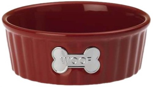 Class Act Chianti WOOF Dog Dish Our stoneware dog bowls are designed to look great and function even better.