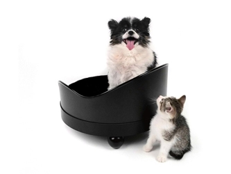 Classic Black Designer Dog Bed