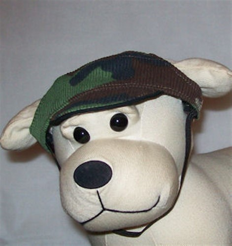 Corduroy Camo Brown & Green Dog Visor