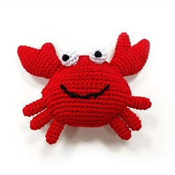 Crab Squeaky Dog Toy