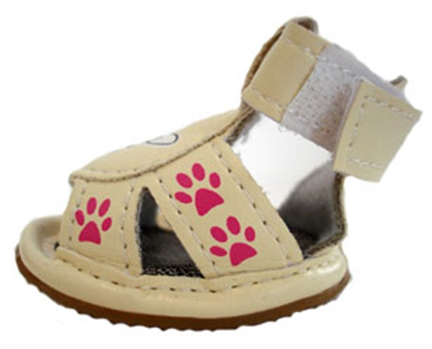 Crossbone Dog Sandals - Cream - dsd-crossbone-cream2-5W1