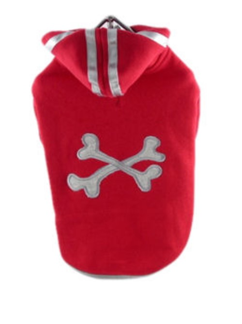 Crossbones Dog Hoodie - Inventory Clearance - HGL-crossbonesX-YFE