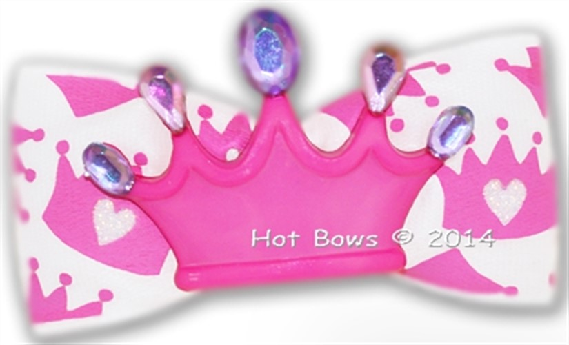 Crowning Around Dog Hair Bow - hb-crowning