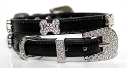Crystal Bone Dog Collar