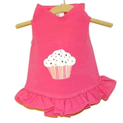 Cupcake Applique Flounce Dress or Tank wooflink, susan lanci, dog clothes, small dog clothes, urban pup, pooch outfitters, dogo, hip doggie, doggie design, small dog dress, pet clotes, dog boutique. pet boutique, bloomingtails dog boutique, dog raincoat, dog rain coat, pet raincoat, dog shampoo, pet shampoo, dog bathrobe, pet bathrobe, dog carrier, small dog carrier, doggie couture, pet couture, dog football, dog toys, pet toys, dog clothes sale, pet clothes sale, shop local, pet store, dog store, dog chews, pet chews, worthy dog, dog bandana, pet bandana, dog halloween, pet halloween, dog holiday, pet holiday, dog teepee, custom dog clothes, pet pjs, dog pjs, pet pajamas, dog pajamas,dog sweater, pet sweater, dog hat, fabdog, fab dog, dog puffer coat, dog winter jacket, dog col