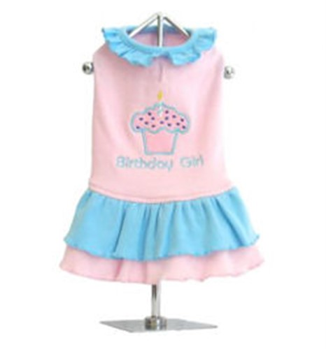 Cupcake Birthday Girl Dog Tank Dress