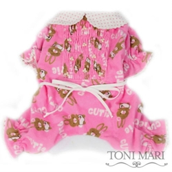 Cutie Bunnies Smocked Dog Pajamas