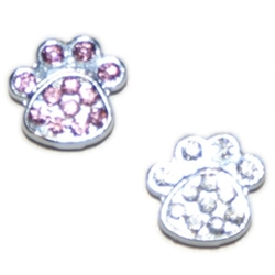 Czech Crystals Paw Slider Charm