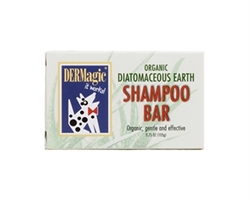 DERMagic Certified Organic Shampoo Bar -  Diatomaceous Earth
