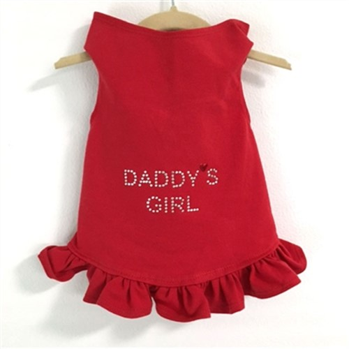 Daddys Girl Dog Dress  - Many Colors wooflink, susan lanci, dog clothes, small dog clothes, urban pup, pooch outfitters, dogo, hip doggie, doggie design, small dog dress, pet clotes, dog boutique. pet boutique, bloomingtails dog boutique, dog raincoat, dog rain coat, pet raincoat, dog shampoo, pet shampoo, dog bathrobe, pet bathrobe, dog carrier, small dog carrier, doggie couture, pet couture, dog football, dog toys, pet toys, dog clothes sale, pet clothes sale, shop local, pet store, dog store, dog chews, pet chews, worthy dog, dog bandana, pet bandana, dog halloween, pet halloween, dog holiday, pet holiday, dog teepee, custom dog clothes, pet pjs, dog pjs, pet pajamas, dog pajamas,dog sweater, pet sweater, dog hat, fabdog, fab dog, dog puffer coat, dog winter jacket, dog col