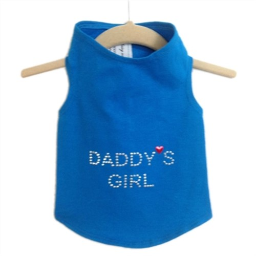 Daddys Girl Dog Tank in Many Colors wooflink, susan lanci, dog clothes, small dog clothes, urban pup, pooch outfitters, dogo, hip doggie, doggie design, small dog dress, pet clotes, dog boutique. pet boutique, bloomingtails dog boutique, dog raincoat, dog rain coat, pet raincoat, dog shampoo, pet shampoo, dog bathrobe, pet bathrobe, dog carrier, small dog carrier, doggie couture, pet couture, dog football, dog toys, pet toys, dog clothes sale, pet clothes sale, shop local, pet store, dog store, dog chews, pet chews, worthy dog, dog bandana, pet bandana, dog halloween, pet halloween, dog holiday, pet holiday, dog teepee, custom dog clothes, pet pjs, dog pjs, pet pajamas, dog pajamas,dog sweater, pet sweater, dog hat, fabdog, fab dog, dog puffer coat, dog winter jacket, dog col