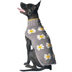 Daisy Dog Sweater    dog bowls,susan lanci, puppia,wooflink, luxury dog boutique,tonimari,pet clothes, dog clothes, puppy clothes, pet store, dog store, puppy boutique store, dog boutique, pet boutique, puppy boutique, Bloomingtails, dog, small dog clothes, large dog clothes, large dog costumes, small dog costumes, pet stuff, Halloween dog, puppy Halloween, pet Halloween, clothes, dog puppy Halloween, dog sale, pet sale, puppy sale, pet dog tank, pet tank, pet shirt, dog shirt, puppy shirt,puppy tank, I see spot, dog collars, dog leads, pet collar, pet lead,puppy collar, puppy lead, dog toys, pet toys, puppy toy, dog beds, pet beds, puppy bed,  beds,dog mat, pet mat, puppy mat, fab dog pet sweater, dog sweater, dog winter, pet winter,dog raincoat, pet raincoat