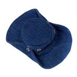 Denim Dog Hat
