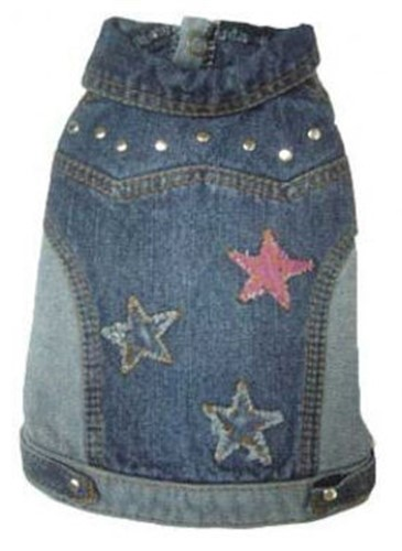 Denim Stars Dog Jacket - pam-denim-jacket