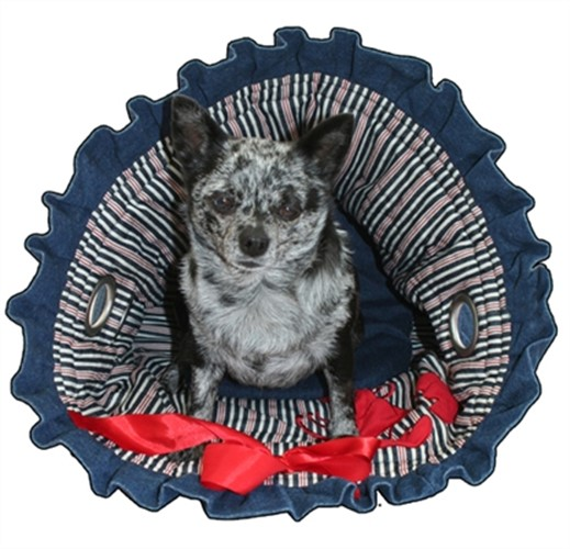 Denim & Stripes Dog Snuggle  Bug - petfly-denim-sack