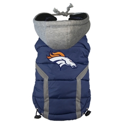 Denver Broncos Puffer Coat  Roxy & Lulu, wooflink, susan lanci, dog clothes, small dog clothes, urban pup, pooch outfitters, dogo, hip doggie, doggie design, small dog dress, pet clotes, dog boutique. pet boutique, bloomingtails dog boutique, dog raincoat, dog rain coat, pet raincoat, dog shampoo, pet shampoo, dog bathrobe, pet bathrobe, dog carrier, small dog carrier, doggie couture, pet couture, dog football, dog toys, pet toys, dog clothes sale, pet clothes sale, shop local, pet store, dog store, dog chews, pet chews, worthy dog, dog bandana, pet bandana, dog halloween, pet halloween, dog holiday, pet holiday, dog teepee, custom dog clothes, pet pjs, dog pjs, pet pajamas, dog pajamas,dog sweater, pet sweater, dog hat, fabdog, fab dog, dog puffer coat, dog winter ja