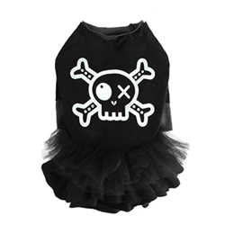 Do Not Touch Pirate Tutu Dress in Black Roxy & Lulu, wooflink, susan lanci, dog clothes, small dog clothes, urban pup, pooch outfitters, dogo, hip doggie, doggie design, small dog dress, pet clotes, dog boutique. pet boutique, bloomingtails dog boutique, dog raincoat, dog rain coat, pet raincoat, dog shampoo, pet shampoo, dog bathrobe, pet bathrobe, dog carrier, small dog carrier, doggie couture, pet couture, dog football, dog toys, pet toys, dog clothes sale, pet clothes sale, shop local, pet store, dog store, dog chews, pet chews, worthy dog, dog bandana, pet bandana, dog halloween, pet halloween, dog holiday, pet holiday, dog teepee, custom dog clothes, pet pjs, dog pjs, pet pajamas, dog pajamas,dog sweater, pet sweater, dog hat, fabdog, fab dog, dog puffer coat, dog winter ja