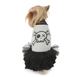Do Not Touch Pirate Tutu Dress in Gray Roxy & Lulu, wooflink, susan lanci, dog clothes, small dog clothes, urban pup, pooch outfitters, dogo, hip doggie, doggie design, small dog dress, pet clotes, dog boutique. pet boutique, bloomingtails dog boutique, dog raincoat, dog rain coat, pet raincoat, dog shampoo, pet shampoo, dog bathrobe, pet bathrobe, dog carrier, small dog carrier, doggie couture, pet couture, dog football, dog toys, pet toys, dog clothes sale, pet clothes sale, shop local, pet store, dog store, dog chews, pet chews, worthy dog, dog bandana, pet bandana, dog halloween, pet halloween, dog holiday, pet holiday, dog teepee, custom dog clothes, pet pjs, dog pjs, pet pajamas, dog pajamas,dog sweater, pet sweater, dog hat, fabdog, fab dog, dog puffer coat, dog winter ja
