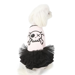Do Not Touch Pirate Tutu Dress in Pink Roxy & Lulu, wooflink, susan lanci, dog clothes, small dog clothes, urban pup, pooch outfitters, dogo, hip doggie, doggie design, small dog dress, pet clotes, dog boutique. pet boutique, bloomingtails dog boutique, dog raincoat, dog rain coat, pet raincoat, dog shampoo, pet shampoo, dog bathrobe, pet bathrobe, dog carrier, small dog carrier, doggie couture, pet couture, dog football, dog toys, pet toys, dog clothes sale, pet clothes sale, shop local, pet store, dog store, dog chews, pet chews, worthy dog, dog bandana, pet bandana, dog halloween, pet halloween, dog holiday, pet holiday, dog teepee, custom dog clothes, pet pjs, dog pjs, pet pajamas, dog pajamas,dog sweater, pet sweater, dog hat, fabdog, fab dog, dog puffer coat, dog winter ja