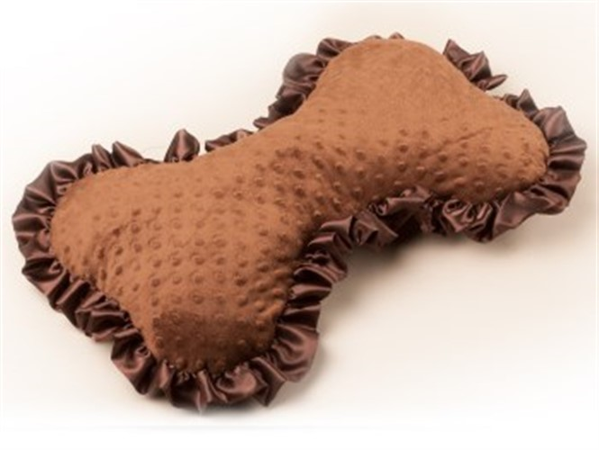 Dog Bone Pillow-Brown