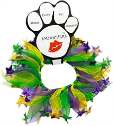 Dog Mardi Gras Smoocher  dog bowls,susan lanci, puppia,wooflink, luxury dog boutique,tonimari,pet clothes, dog clothes, puppy clothes, pet store, dog store, puppy boutique store, dog boutique, pet boutique, puppy boutique, Bloomingtails, dog, small dog clothes, large dog clothes, large dog costumes, small dog costumes, pet stuff, Halloween dog, puppy Halloween, pet Halloween, clothes, dog puppy Halloween, dog sale, pet sale, puppy sale, pet dog tank, pet tank, pet shirt, dog shirt, puppy shirt,puppy tank, I see spot, dog collars, dog leads, pet collar, pet lead,puppy collar, puppy lead, dog toys, pet toys, puppy toy, dog beds, pet beds, puppy bed,  beds,dog mat, pet mat, puppy mat, fab dog pet sweater, dog sweater, dog winter, pet winter,dog raincoat, pet raincoat
