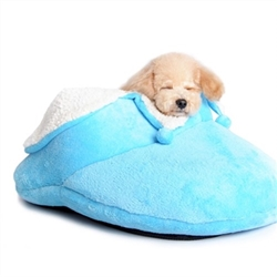 Dog Slipper Bed in Blue or Pink