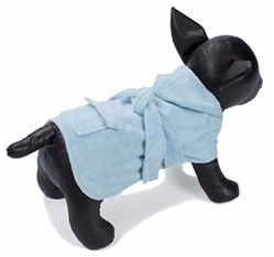 Dog Spa Bathrobe - Blue