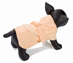 Dog Spa Bathrobe - Peach